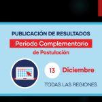 PUBLICACIÓN DE RESULTADOS – PERIODO COMPLEMENTARIO DE POSTULACIÓN…